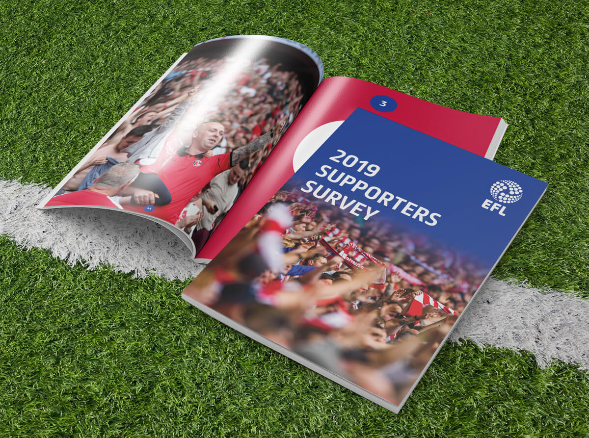 EFL Supporters Survey Report Cover and inside spread